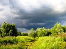 De wolk van de regen Stock Foto