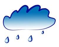 De wolk van de regen royalty-vrije illustratie