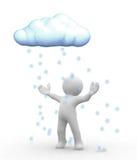 De wolk van de sneeuw Royalty-vrije Stock Afbeelding