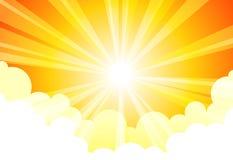 De Wolk van de Zon van de hemel vector illustratie