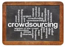 De wolk van het Crowdsourcingswoord Stock Fotografie