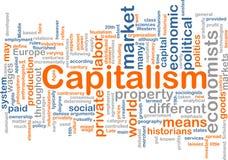 De wolk van het het beheerswoord van het kapitalisme vector illustratie