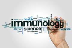De wolk van het immunologiewoord stock foto's