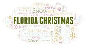 De wolk van het Kerstmiswoord van Florida royalty-vrije illustratie