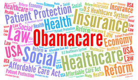 De wolk van het Obamacarewoord royalty-vrije illustratie