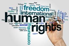 De wolk van het rechten van de menswoord stock foto