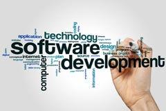 De wolk van het software-ontwikkelingwoord royalty-vrije stock foto's