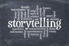 De wolk van het Storytellingswoord stock fotografie