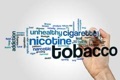 De wolk van het tabakswoord Stock Foto's