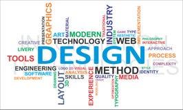 De wolk van Word - ontwerp Stock Fotografie
