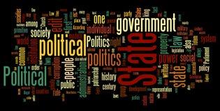De Wolk van Word van de politiek vector illustratie