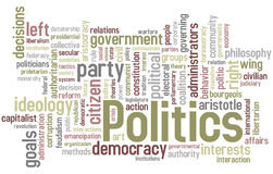 De Wolk van Word van de politiek Royalty-vrije Stock Fotografie