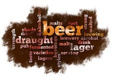 De Wolk van Word van het bier Stock Foto