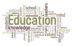 De Wolk van Word van het onderwijs Stock Afbeeldingen