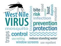 De Wolk van Word Virus van het West- van Nijl royalty-vrije illustratie