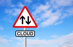 De wolk voorziet van wegwijzers Royalty-vrije Stock Afbeelding