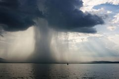 De wolkbreuk van de onweersbui Stock Fotografie