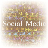 De wolken Sociale media van de markering Royalty-vrije Stock Foto