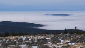 De wolken van Brocken Stock Foto's