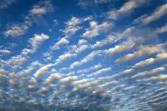 De wolken van Cirrocumulus Royalty-vrije Stock Foto