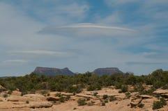 De wolken van de cirkel Stock Foto