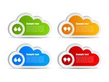 De wolken van de citaattekst royalty-vrije illustratie