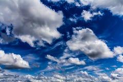 De wolken van de cumulus Royalty-vrije Stock Foto