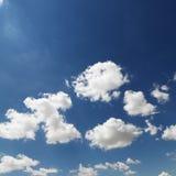 De wolken van de cumulus. stock fotografie