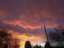 De wolken van de de lentezonsondergang Royalty-vrije Stock Foto