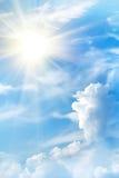 De wolken van de de zonhemel van de zonsopgang Royalty-vrije Stock Foto
