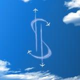 De wolken van de dollarvorm Royalty-vrije Stock Foto's