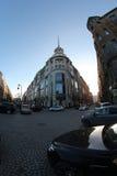 De wolken van de het Vooruitzichtzon van heilige Petersburg Nevsky royalty-vrije stock foto