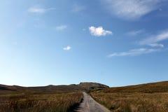 De wolken van de landweg Royalty-vrije Stock Foto's