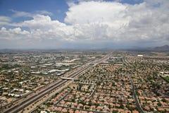 De Wolken van de moesson over Scottsdale royalty-vrije stock afbeeldingen