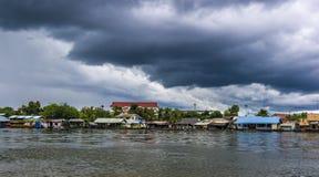 De wolken van de moesson in Thailand royalty-vrije stock afbeelding