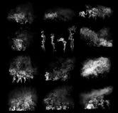 De wolken van de rook Stock Afbeelding