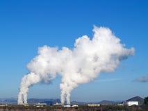 De Wolken van de stoom Royalty-vrije Stock Afbeeldingen