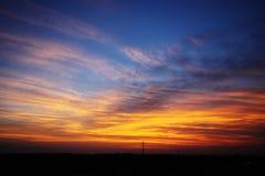 De wolken van de zonsondergang Royalty-vrije Stock Foto