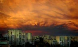 De wolken van de zonsondergang Royalty-vrije Stock Foto's
