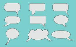 De wolken van de dialoog royalty-vrije stock foto
