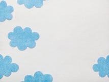 De Wolken van Felted Stock Illustratie