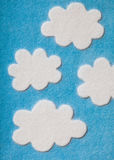 De Wolken van Felted vector illustratie