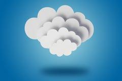 De wolken van het document Royalty-vrije Stock Afbeelding