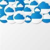 De wolken van het document. Vector illustratie. Royalty-vrije Stock Foto