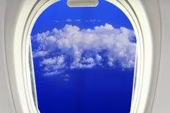 De wolken van venster Royalty-vrije Stock Afbeelding