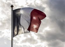 De Wolken van de de Vlagzon van Frankrijk Royalty-vrije Stock Afbeelding