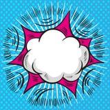 De wolken vectorachtergrond van de pop-art grappige toespraak stock illustratie