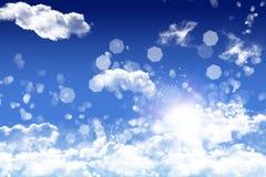 De wolken zijn in de lucht Stock Fotografie