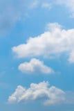 De Wolkenachtergrond van de hemel Heldere Blauwe Cumulus Royalty-vrije Stock Fotografie