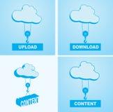 De wolkendienst vlakke ontwerpelementen Stock Foto